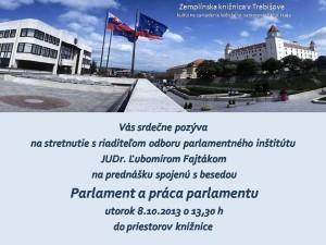 Pozvánka - Parlament