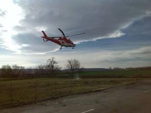 Pri dopravnej nehode v Novosade zasahoval vrtuľník