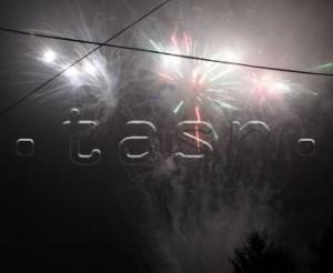 Nový rok dnes vítali ohňostrojom v Zemplínskom Hradišti