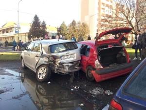 Čierny pondelok na cestách v Trebišove, našťastie, bez ohrozenia životov