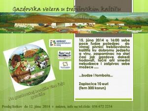 Gazdovsku večeru v trebišovskim kaštiľu pripravujú kultúrnici na tretiu júnovú nedeľu