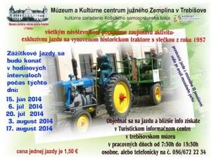 Nová kultúrna služba v Trebišove: zážitková jazda na traktore s prepravníkom